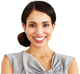 Woman smiling headshot